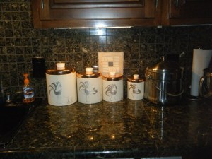 Vintae Rooster Kitchen Canisters