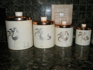 Vintage Rooster Kitchen Canisters