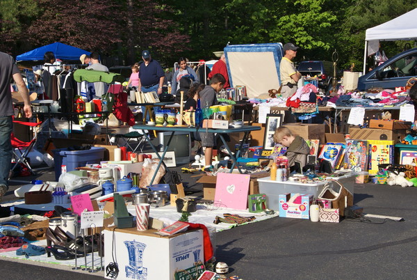 Giant yard sale to generate extra income.